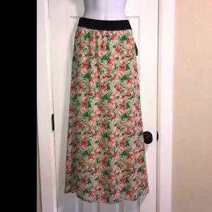 NWT LulaRoe Lucy Colorful Daffodil Maxi Skirt- M